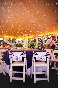 Jekyll Island Wedding Under the tent next to the beach.