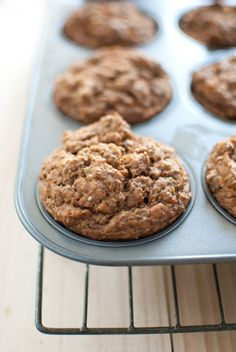 Sweet potato spelt muffins | scandi foodie | . . . change out the brown rice syrup for honey.
