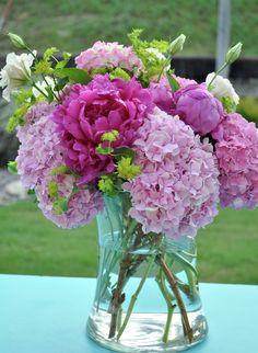 lavender flower center piece