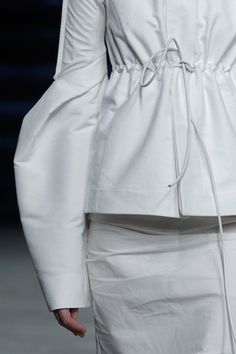 Sculptural Sleeves with rounded 3D structure - shape & volume // Rick Owens SS12