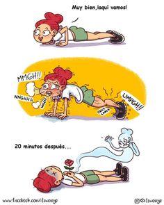 ejercicio chica pelirroja