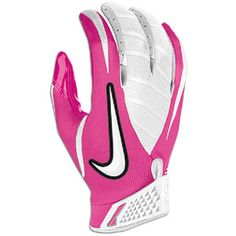 Also of the proceeds of the purchase of this receiver glove will to the Breast Cancer Awareness! Custom Football Cleats, Football Gear, Football Gloves, It's Going Down, Nike Vapor, Breast Cancer Awareness, Workout Gear, Sorting, Flag