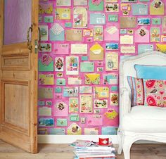 Keltainen talo rannalla: Väriä ja kuvioita seinille
