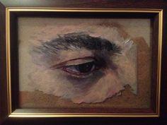 Serie de Ojos de Autoretrato . Óleo sobre cristal . Ana Domínguez