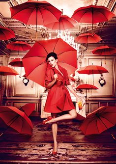Red! | Penelope Cruz for Campari Calendar 2013