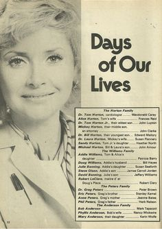Susan Flannery Frances Reid, Santa Barbara Soap Opera, Macdonald Carey, Soap Opera Stars, Tv Soap, Days Of Our Lives, Many Faces, Vintage Vibes, Back In The Day