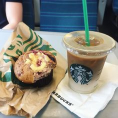 Weekend vibes... trying out the limited edition raspberry cheesecake muffin on my way into town. Hmm I wouldn't make you spend 2.30 on these @starbucksuk ... cheesecake but was nice but the rest can forego. I still think @pretamangeruk does the best muffins. At least iced latté went down well on these humid summer days. IT'S JULY TODAY GUYS!!!  #sunsoutgunsout #summer #summerdays #weekend #weekendvibes #starbucks #latte #coffee #muffin #youreamuffin #foodie #foodblogger #summerfood…
