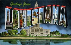 Greetings from Louisiana - Large Letter Postcard