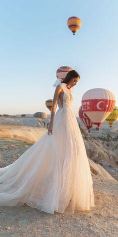 Eva Lendel Wedding Dresses 2018 Collection ❤ blush aline sexy lace top wedding dresses with bow eva lendel angel ❤ See more: http://www.weddingforward.com/eva-lendel-wedding-dresses-2018/ #weddingforward #wedding #bride #bridalgown #weddingdresses2018