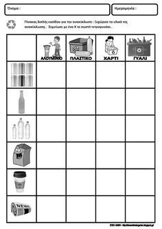 recycling worksheets - math for kindergarten Shapes Worksheet Kindergarten, Kindergarten Science, Math Coloring Worksheets, Preschool Worksheets, Sorting Activities, Handwriting Practice Worksheets, Math Sheets, Christmas Worksheets, Free Printable Worksheets