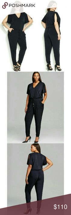 MICHAEL KORS Plus Size Flutter Sleeve Jumpsuit NWT Sleek and chic, MICHAEL?MichaelKors' plus size flutter-sleeve jumpsuit elevates your style effortlessly. Pair it with fashion-forward caged sandals for a stunning going-out look.  Color: Navy Blue  Flutter sleeves. Adjustable drawstring at waist  V-neckline. Easy fit through hips and thighs  Hidden zipper closure at back. Skinny leg  Off-seam pockets at sides. Unlined  Approximate inseam: 35 inches  Polyester/spandex. Hand wash  Retails for…