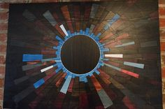 wooden wall art BLUE VENUSIAN wood wall art by StainsAndGrains, $750.00