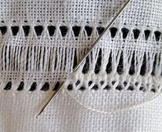 Basic Embroidery Stitches, Hand Embroidery Videos, Hardanger Embroidery, Cross Stitch Embroidery, Embroidery Patterns, Cross Stitches, Bead Loom Patterns, Crochet Patterns, Swedish Weaving Patterns
