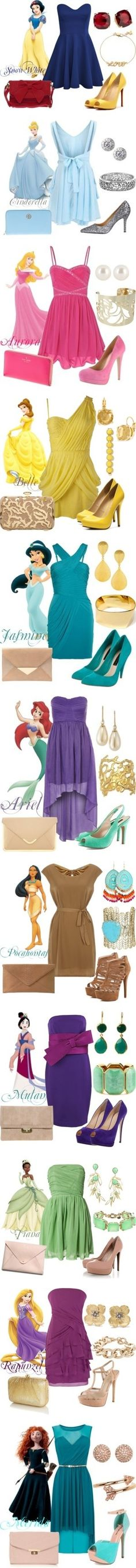 Disney princess inspired outfits                                                                                                                                                                                 More