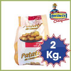 Patate lavate. A pasta gialla dalla polpa compatta. Ideali per tutti i tipi di preparazioni. Rete kg.2 a solo € 1,69!!!