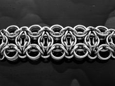 "Josh Diliberto -  Celtic Mosaic Chain PICTURE SHOWS: 14SWG 7/16"" ID, 16SWG 3/16"", 7/32"", 5/16"" ID"