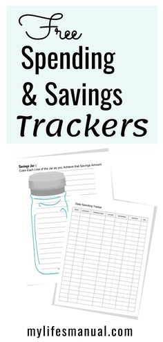 Free Saving Money and Spending Tracker Printables. Easily track your savings and spending using these free budget printables! Budget Binder, Monthly Budget, Money Saving Challenge, Money Saving Tips, Money Savers, Saving Ideas, Money Tips, Take Money, Money Fast