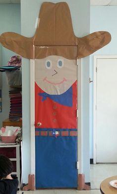 Cowboy classroom door