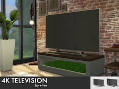 4k Television with and without soundbar at Simobjects by Ellen • Sims 4 Updates