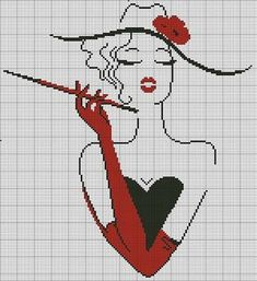 free cross stitch chart looks like cruella Cross Stitch Charts, Cross Stitch Designs, Cross Stitch Patterns, Cross Stitching, Cross Stitch Embroidery, Embroidery Patterns, Hand Embroidery Flowers, Tapestry Crochet, Pattern Art