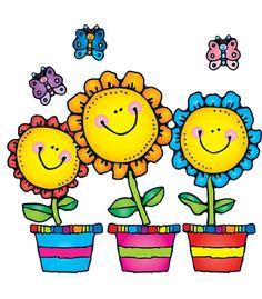 691 best clipart spring flowers images on pinterest in 2018 blooming flowers bulletin board set mightylinksfo