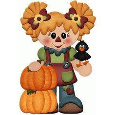 Silhouette Design Store - View Design #51276: scarecrow girl fall autumn print & cut