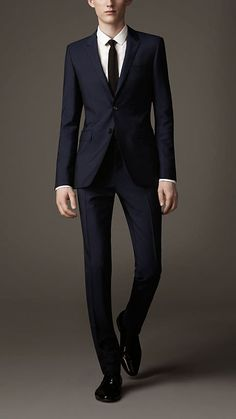 Burberry Slim Fit Wool Mohair Suit in Blue for Men (navy) - Lyst 090e7fa1019d