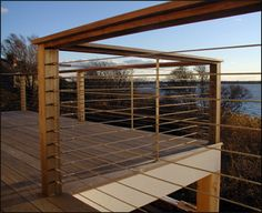 Diy deck railing ideas designs pictures from wood metal cable alumunium fiberglass etc for outdoor or exterior lowes composite small free. Metal Deck Railing, Deck Railing Systems, Deck Railing Design, Wood Handrail, Balcony Railing, Stair Railing, Deck Design, Railing Ideas, Pergola Ideas