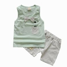 Kids Clothes Baby Boy Summer Clothes Set Tank Top + Jeans Shorts Childrens Toddler Boy Clothing Set Baby Clothes for Boys