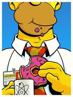 homer simpson (art by joshua budich) Arte Pop, Cultura Pop, Ferris Bueller, Simpson Art, Homer Simpson Drawing, Tableau Pop Art, Geek Art, Canvas Artwork, Framed Canvas