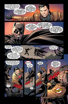 Batman and Robin - July 2013 Wow you guys really can't communicate except through fists can you? Geez...