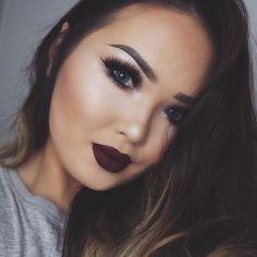 Perfect fall make up Beauty Makeup, Hair Beauty, Dark Lips, Pretty People, Make Up, Lipstick, Beats, Fall, Fashion
