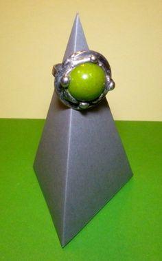 http://megasilver.pl/Pierscionek-p298 #ring #metalwork #handmade #green #howlite #stone #jewelry