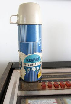50s 60s Keapsit Thermos Vintage Vacuum Bottle  by JoulesVintage, $14.95