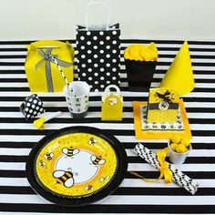 Turn Your Birthday Party Venue Into The Ultimate Hive And Create A Buzz With Our Collection Of Bumble Bee Supplies Complimenting Black