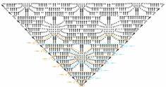 Chal crochet, esquemas simples .. Discusión en LiveInternet - Servicio de Diarios en línea de Rusia