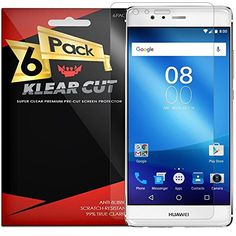 Huawei P9 Screen Protector 6Pack Klear Cut  Lifetime Replacement Warranty  AntiBubble  AntiFingerprint High Definition HD Clear Premium PET Cover  Retail Packaging >>> You can get additional details at the image link.