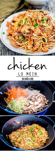 Chicken Lo Mein - get stir-frying with the easiest and most scrumptious chicken lo mein recipe. Forget take-out, whip this up at home! #chicken #lomein #chickenlomein
