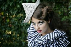 Paper Hat, Burlesque, Pin up. http://www.theheadmistressboutique.com/ https://www.etsy.com/uk/shop/headmistressboutique?ref=si_shop