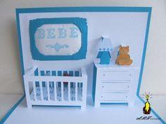 Un faire part de naissance original tout en papier #kirigami #paper #papier #DIY #tuto Kirigami, Shower Bebe, Baby Shawer, Card Patterns, Pop Up Cards, Plastic Laundry Basket, Baby Cards, Toddler Bed, Paper Crafts