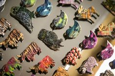 Handmade clay brooches available at Rosie's Framers and Crafts. The ideal gift! Craft Shop, Brooches, Clay, Cards, Handmade, Gifts, Design, Clays, Hand Made