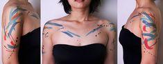 AMANDA WACHOB | A R T N A U, brushstroke tattoos.