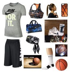"""""""Because basketball is starting!! ❤️"""" by rachelames21 on Polyvore featuring CellPowerCases and NIKE"""