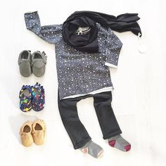 Adorable toddler boys outfit. Love the scarf!