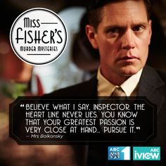 Miss Fisher's Murder Mysteries Murdoch Mysteries, Best Mysteries, Tv Show Quotes, The Fault In Our Stars, Criminal Minds, Period Dramas, Best Shows Ever, Fisher, Positive Quotes