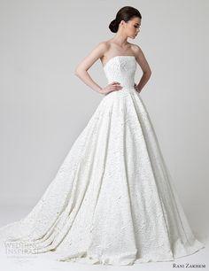 rani zakhem bridal spring 2014 strapless wedding dress How to wear lace