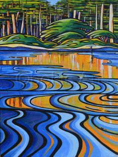 SOLDbr br 18 Acrylic on Canvasbr 2013 bekis Art Landscape Art Quilts, Landscape Artwork, Landscapes, Hawaiian Art, Surf Art, Canadian Artists, Canvas Artwork, Beautiful Artwork, Mosaic Art