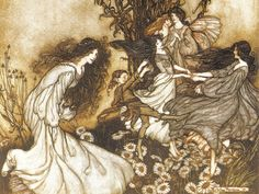 "pagewoman: "" Dancing Fairies by Arthur Rackham """