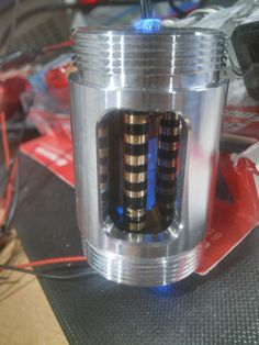 Custom Made and Machined LED Crystal Chamber.