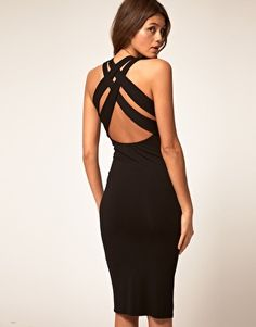 Love the back on this black dress